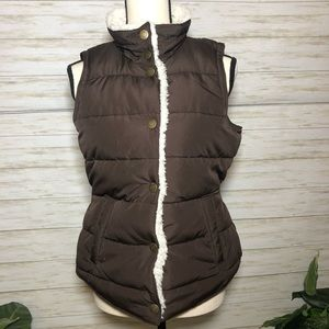 Maurices partial Sherpa lined puffer Vest